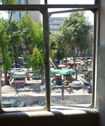 Mexico City kitchen window