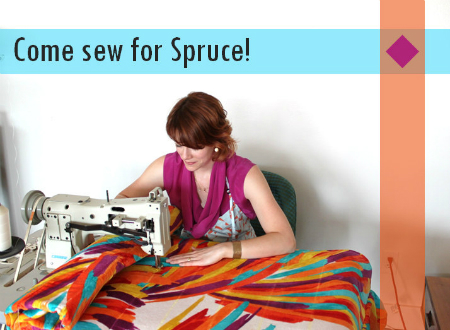 sewing position at spruce