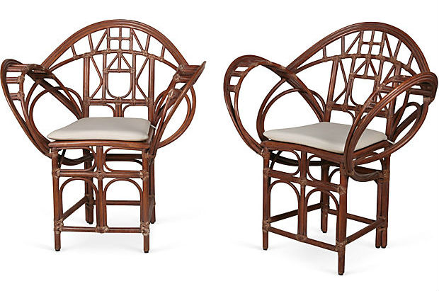 butterfly rattan chairs