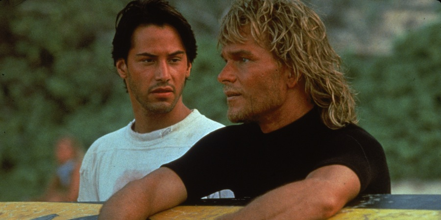 Keanu Reeves and Patrick Swayze in Point Break. (Photo by Richard Foreman/Fotos International/Getty Images)