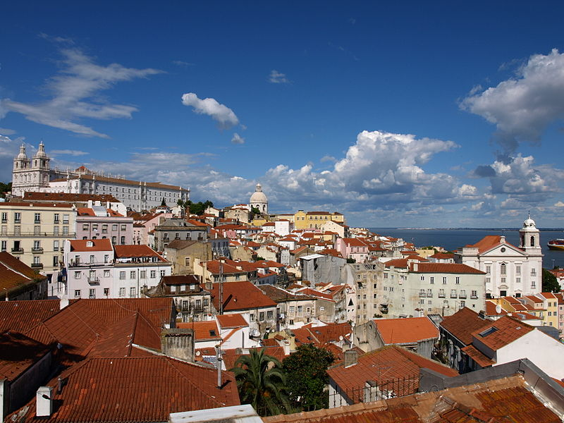 View of the Alfama quarter in Lisbon, Portugal. Photo via Wikimedia Commons.