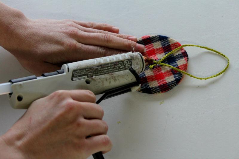 9 attach yarn or ribbon
