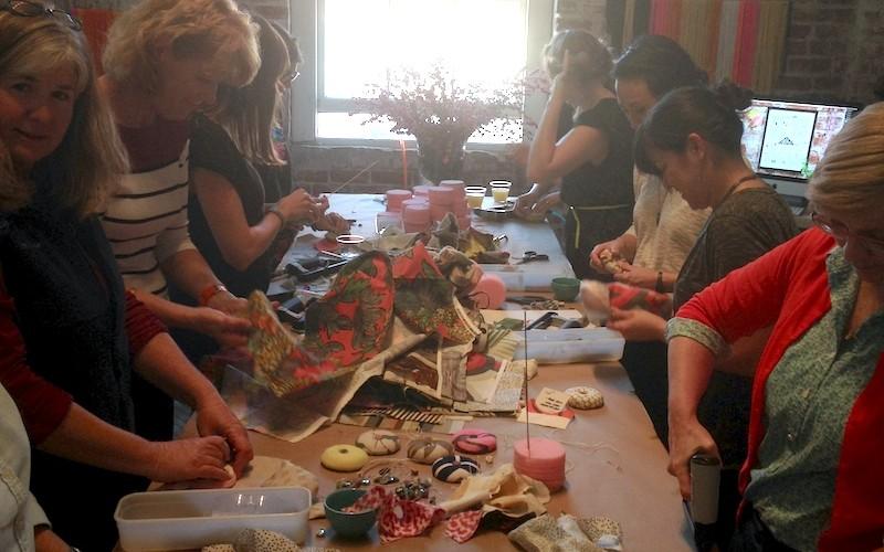 Pincushion making at Creativebug