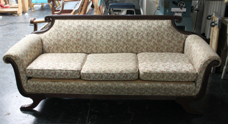 Duncan Phyfe Sofa Reupholstered Ducan Before And After Thesofa