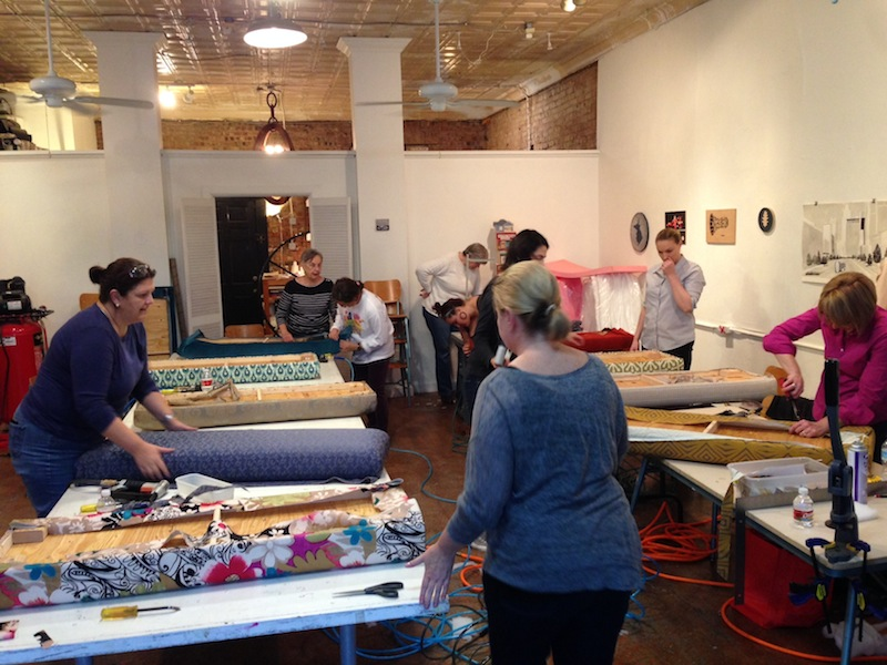 Oil and cotton bench class
