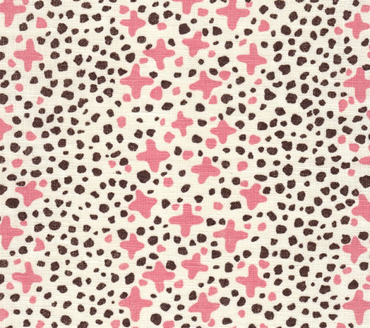 Quadrille Jacks_II_Pink_Brown_Dots_on_Tint
