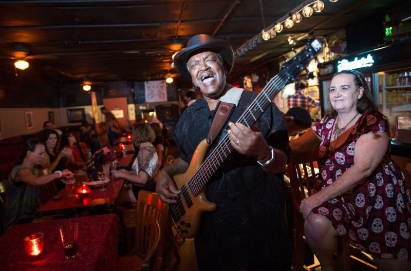 Shot of The Skylark's nightlife and entertainment courtesy of Tamir Kalifa for the Austin American Statesman,