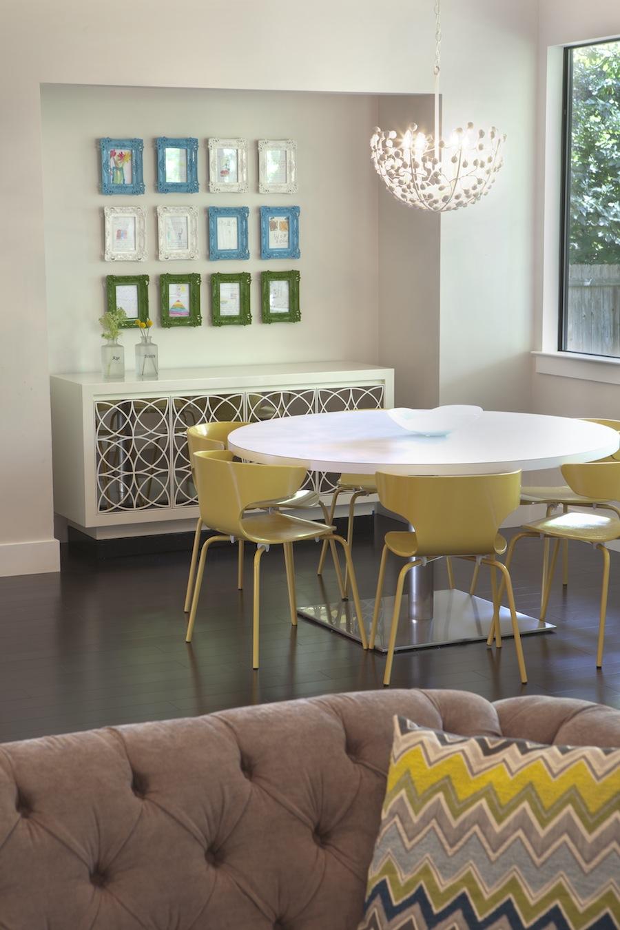 A breakfast area designed by Jill May.