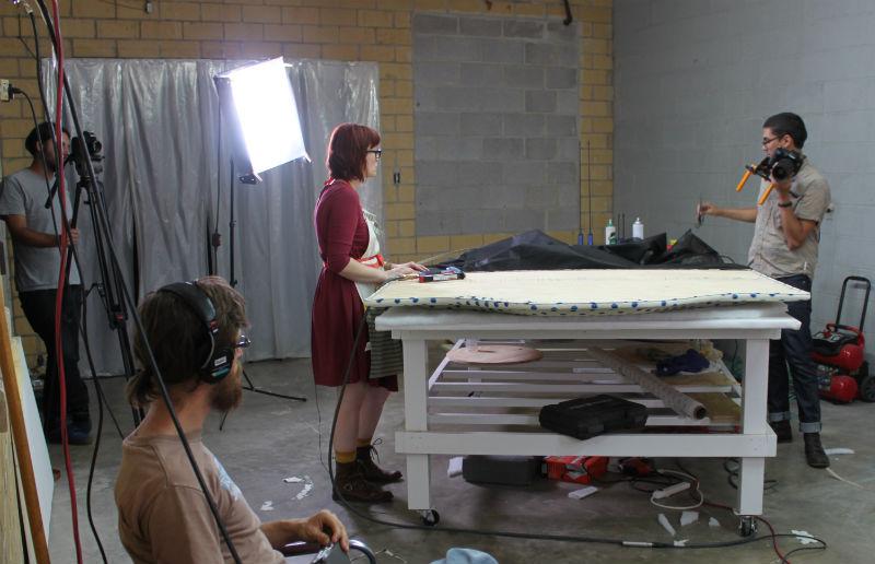 behind the scenes video shoot space