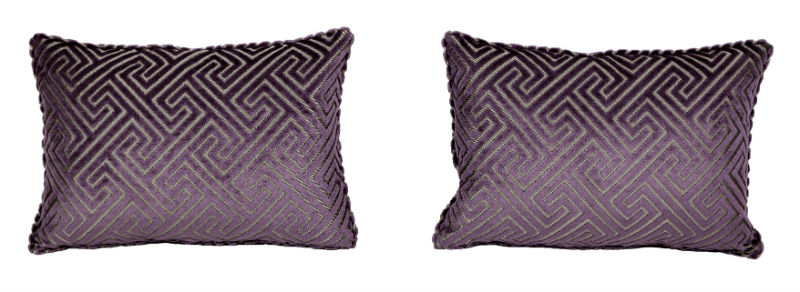 The Purple Maze pillows.