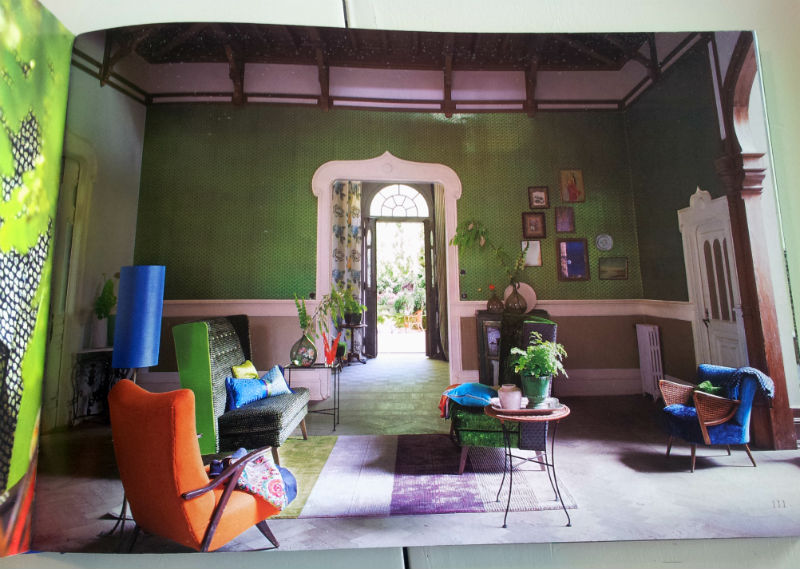 A multi-colored jewel jungle of a room!