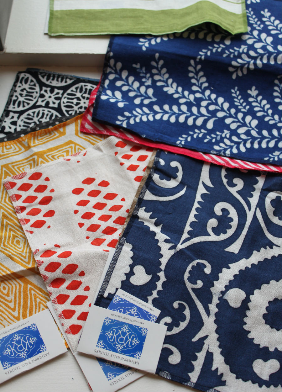 New fabric line in the shop! Loads of cool batik and hand prints from Katherine Rally Textiles. Great for pillows and draperies! New! New! New!