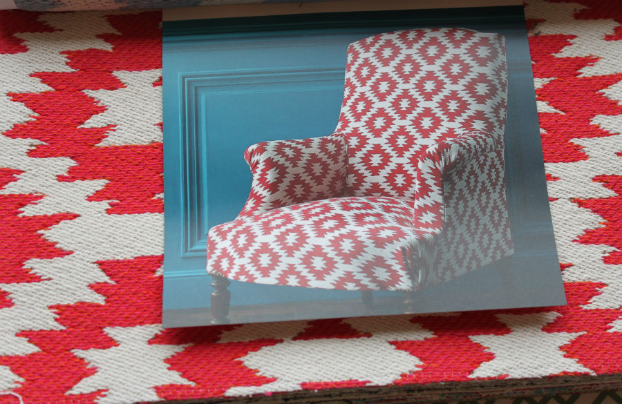 "Manuel Canovas's cool ""Texas"" pattern in cardinal. I had to! Look how cute!"