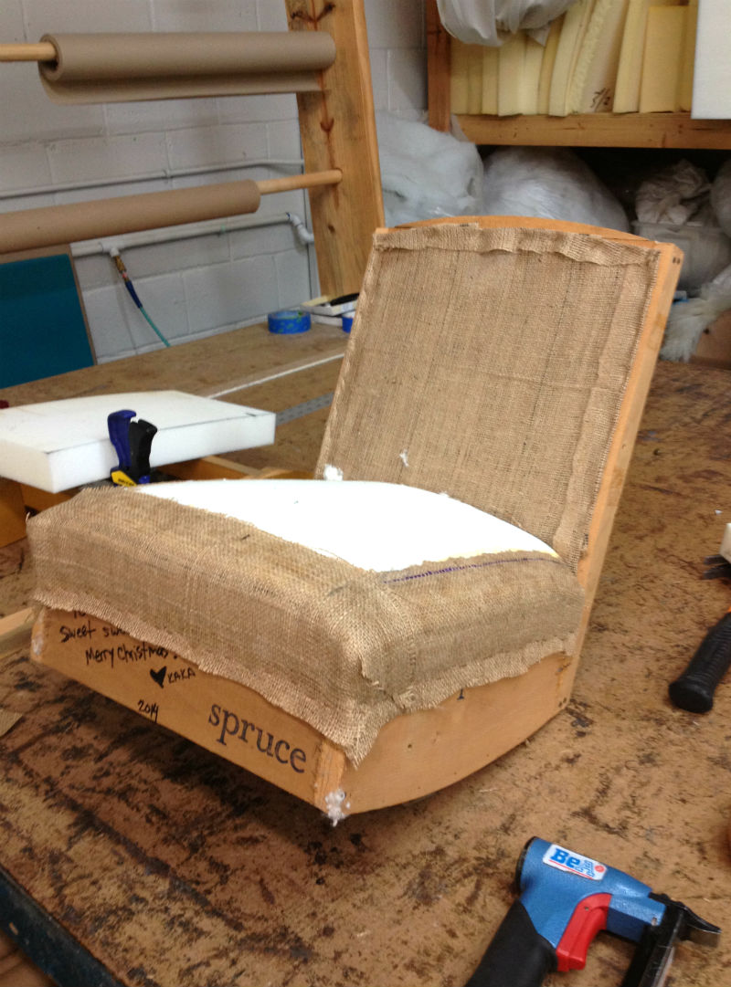 evelyns chair padded