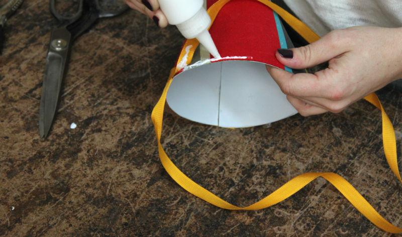 glue the trim along the edge