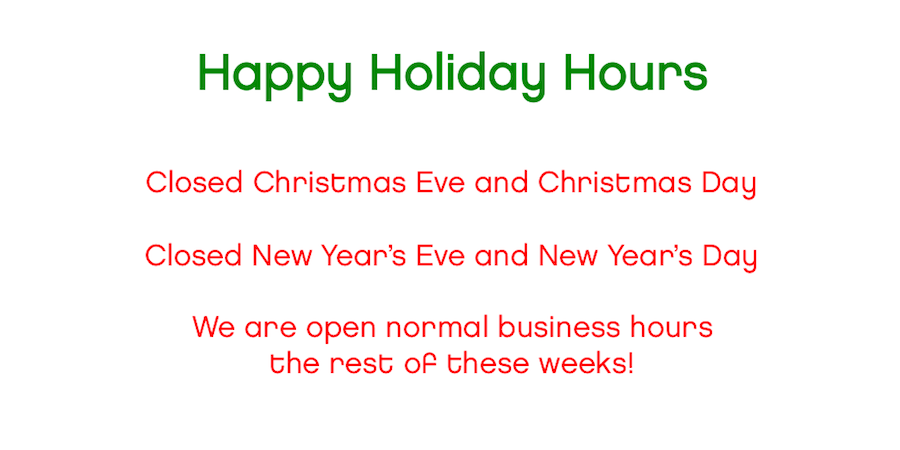 happy holiday hours
