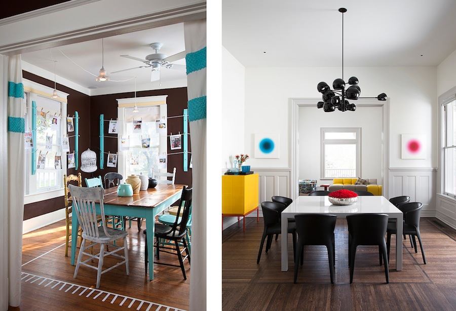 Interiors by Chris McCray (left) and Poteet (right) shot by Ryann Ford