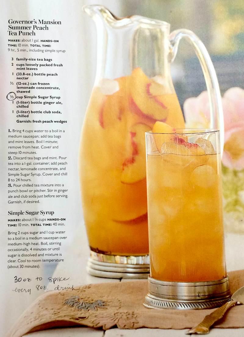 peach tea recipe