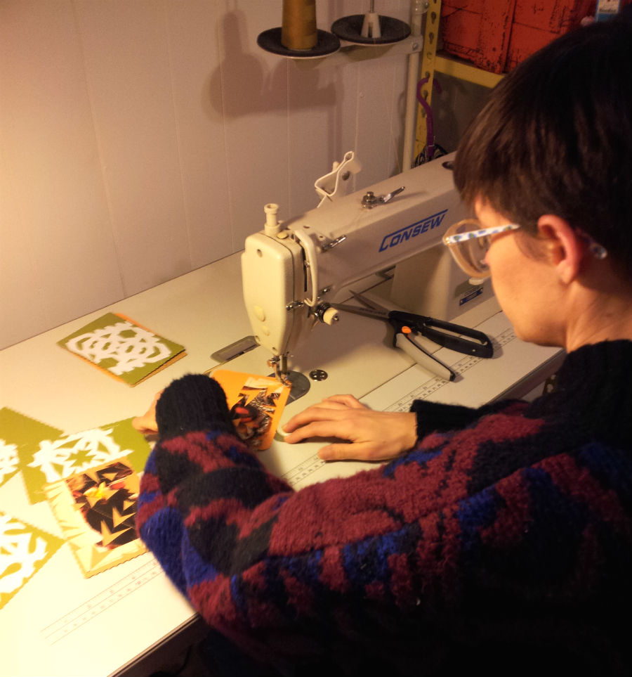 snowflake cards sewing