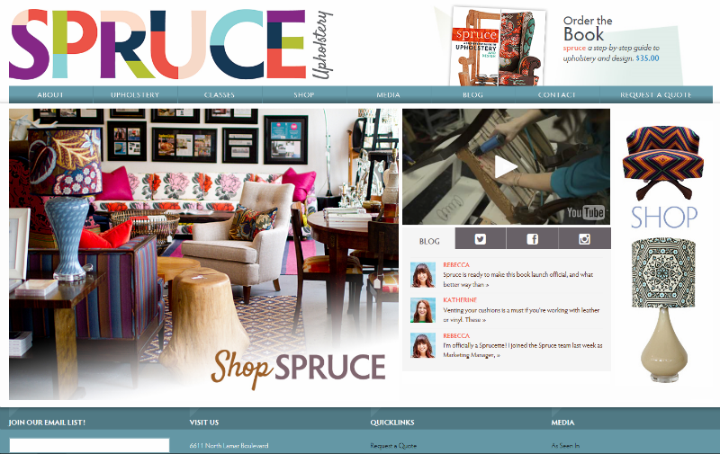 spruce new website home page