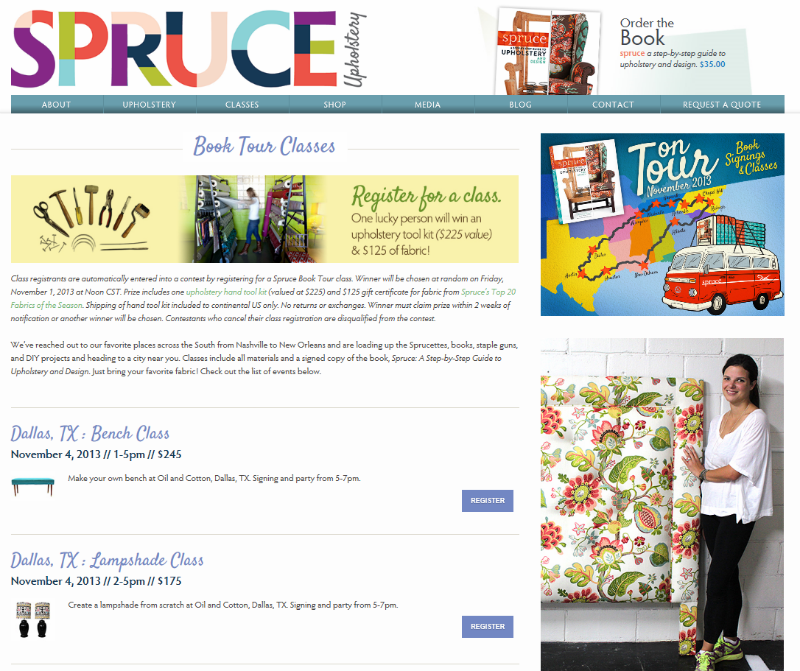Spruce classes website