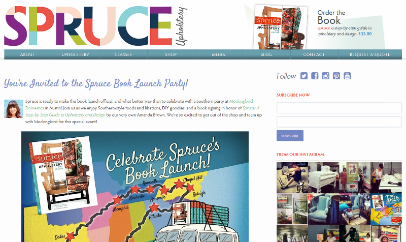 spruce blog screen shot