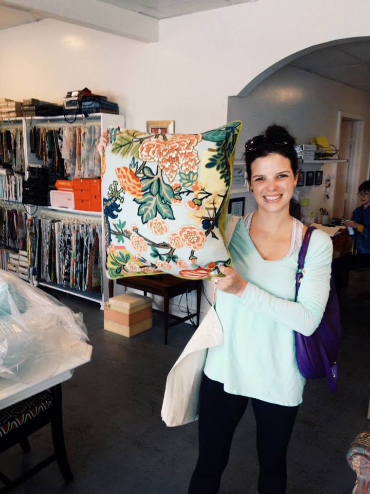 Virginia whipped up a few fresh pillows during the Shop Hop!