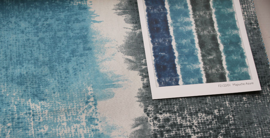 Designer's Guild wide watercolor stripe.